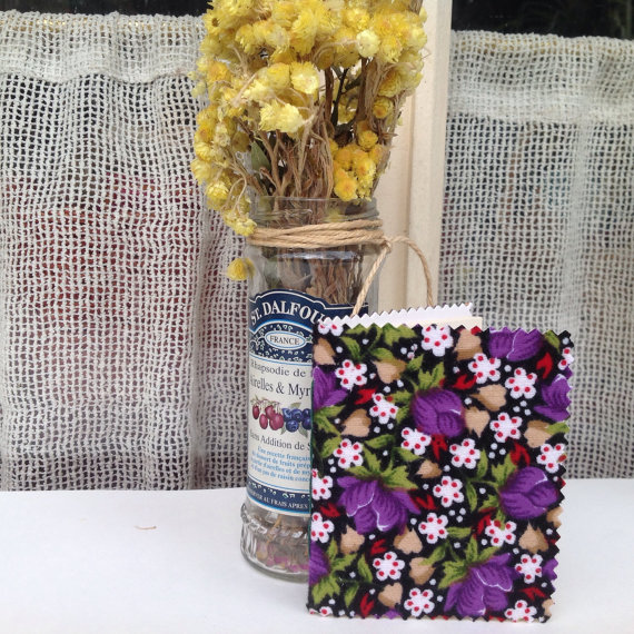 Handmade Notebook with traditional granny floral fabric