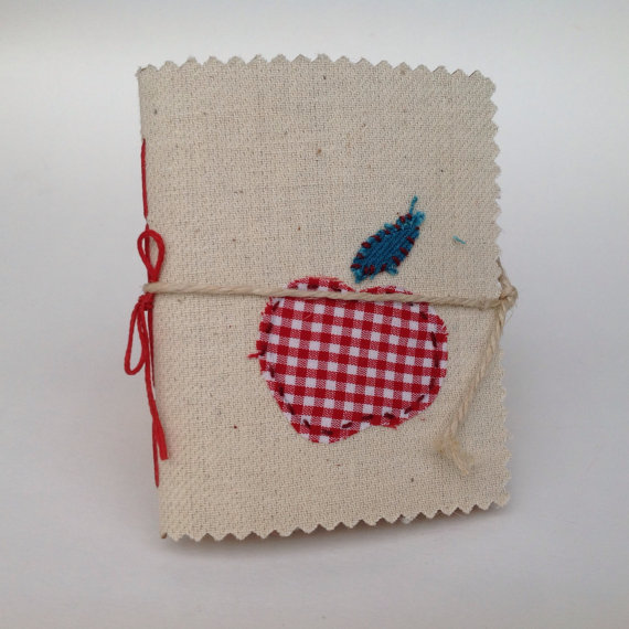 Handmade Notebook with apple